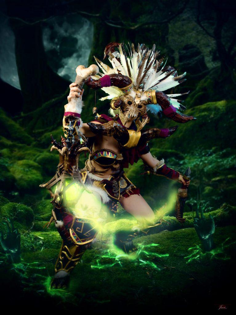 Lady Devilrose como Médica Brujo Diablo III Cosplay
